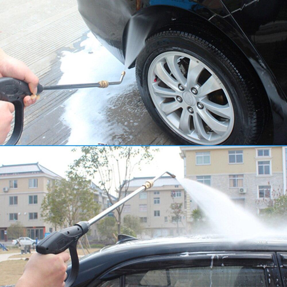 30/90 grad U-Förmigen Gebogene Stange Haushalt Klimaanlage Dampf Druck Washer Auto Waschen Wasser Pistole Lange stange
