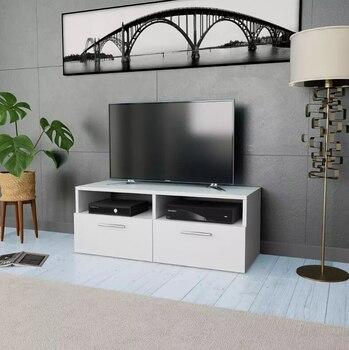 Vidaxl Tv Schrank Spanplatten Weiß Wohnzimmer Möbel Holz Tv Steht Tv