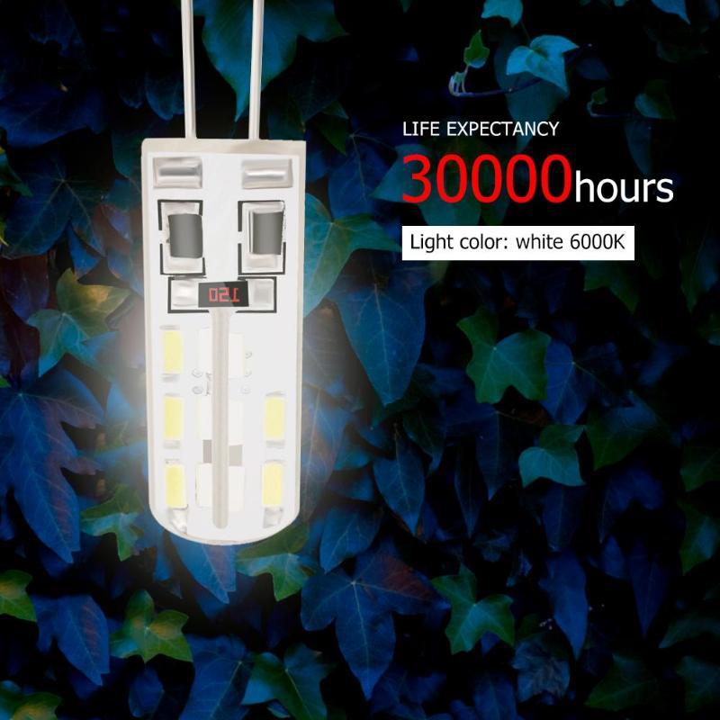 SMD3014 G4 LED Lamp 2W DC 12V White 24LED Silicone Corn Bulb Light 110LM Halogen Light