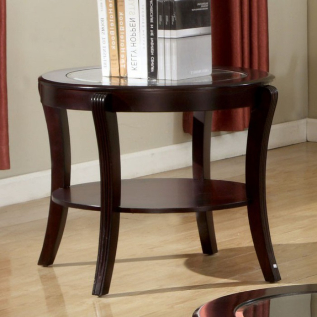 Finley Contemporary Style End Table, Expresso Finish