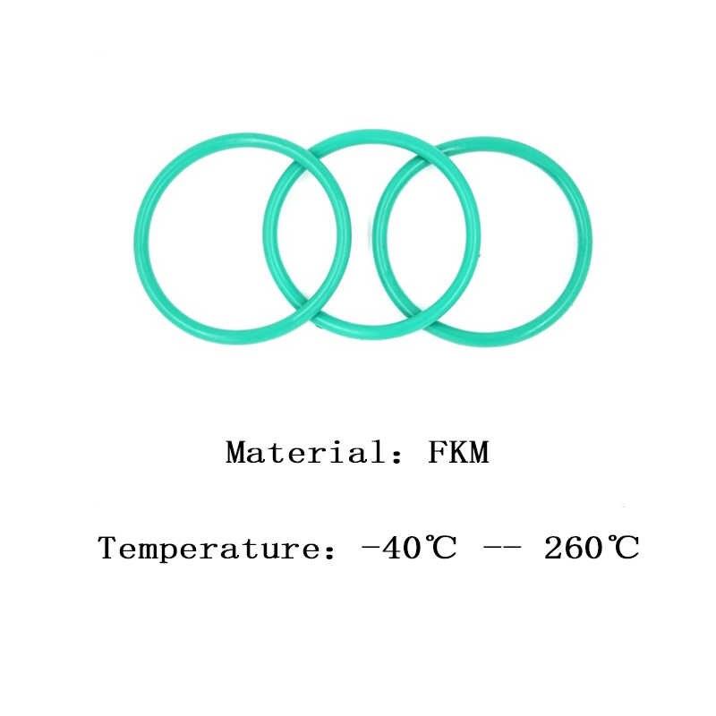 FKM CS 5 OD 34/35/36/37/38/40/42/44/45/48/50 mm Fluorine Glue Green Seal O-ring High Temperature Resistance Preservative Washer