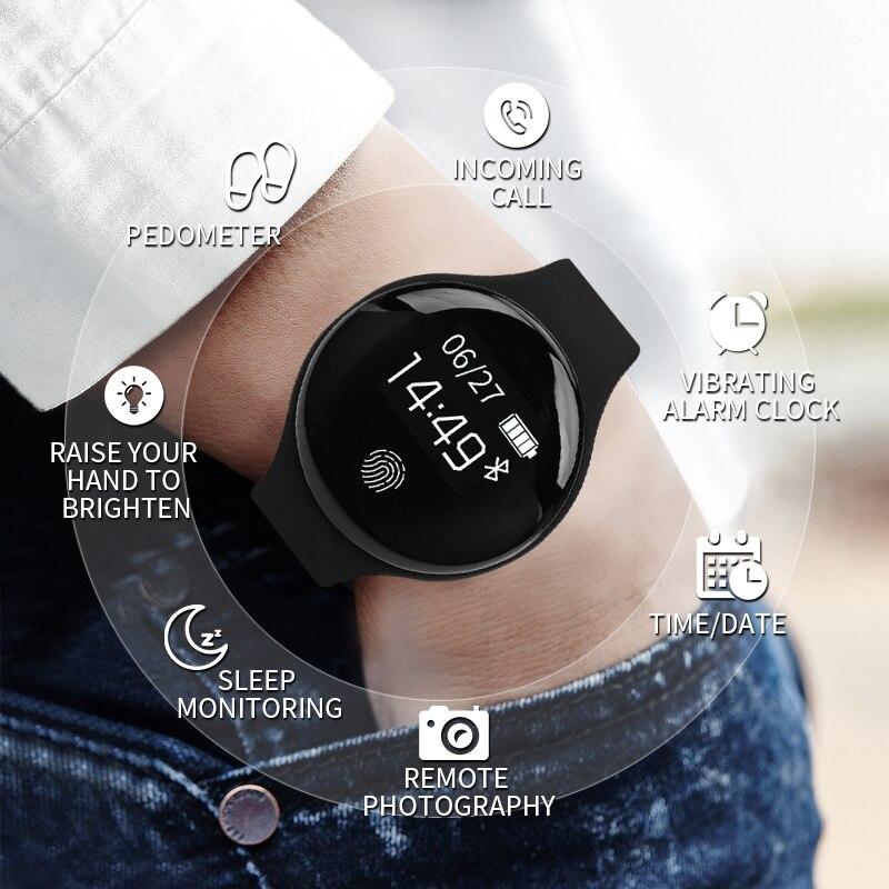 SENSTHEN Bluetooth Relógio Inteligente para IOS Android Homens Mulheres Esporte Relógio de Fitness Pedômetro Inteligente Pulseira Relógios para iPhone