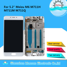 """Original M&Sen 5.2"""" For Meizu M6 M711H M711M M711Q LCD Screen Display+Touch Panel Digitizer With Frame"""