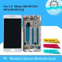 """オリジナル m & セン 5.2 """"魅 M6 M711H M711M と M711Q 液晶画面ディスプレイ + タッチパネルデジタイザフレーム"""