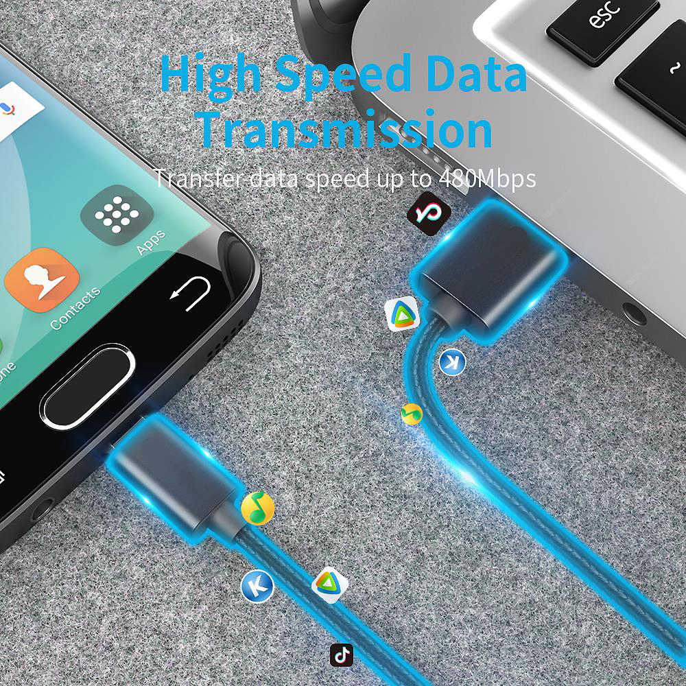المصغّر USB كابل 3A شحن سريع شاحن سامسونج غالاكسي S7 S6 J7 حافة نوت نوت 5 LG Xbox PS4 أندرويد USB كابل بيانات الهاتف