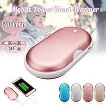 5200 мАч USB P ocket нагреватель грелка для рук Портативный Мобильный Питание макароны двойной нагрев алюминий сплав мобильного телефона зарядки
