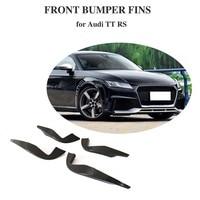 For Audi TTRS 2016 2017 2018 Carbon Fiber Front Bumper Air Vent Fender Trims Decoration