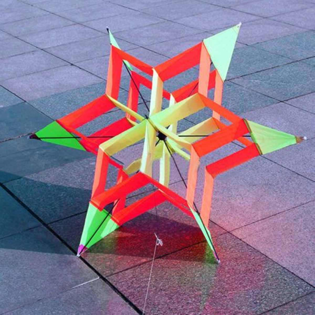 3D красочные шестиугольник сливы цветок воздушный змей с одним леером FRP воздушный змей открытый весело спортивные детские игрушки легко взлетающие с подключением придерживаться линии