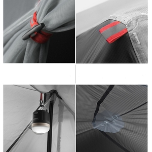 Image 5 - 3F Ul Gear Enkele Persoon 15D Siliconen Coating Stangloze Dubbele Lagen Tent Waterdichte Draagbare Ultralight Camping 3 Seizoen