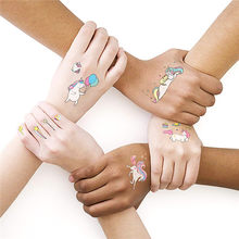 719e98c24 2018 NEW Cute Unicorn Temporary Tattoo Sticker Cloud rainbow Waterproof  Decals Body Art star moon diamond Image Tattoo Sticker