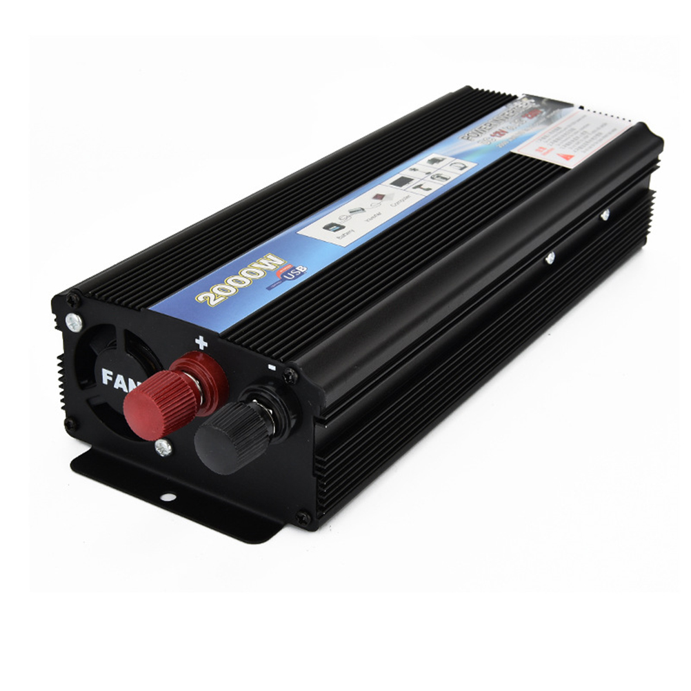 1pc 2000W Car Inverter Dc 12V To Ac 220 V Power Inverter Adapter Converter Car Power Supply Dc Ac Inverter 12v To 220v