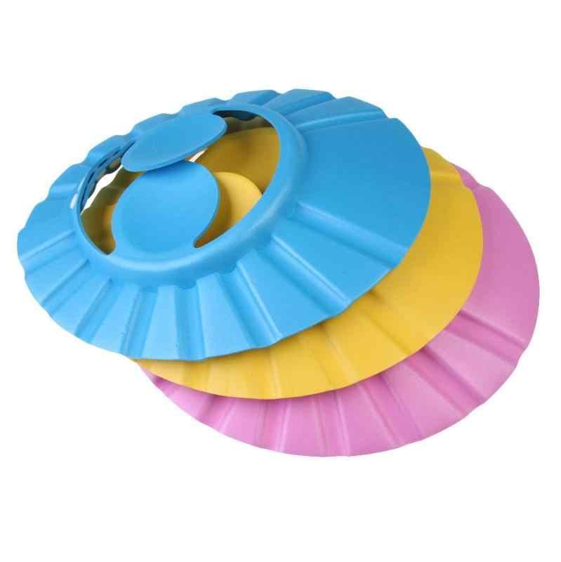 Ajustável Bebê Crianças Shampoo Cap Protetor de Cuidados de Olho À Prova D' Água Moda Suave Banho de Chuveiro Cap Lavar o Cabelo Escudo Ouvido Crianças Novo