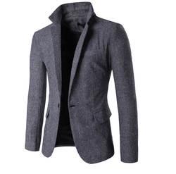 Костюмы из тканей осень и зима для мужчин куртка Americana Hombre 9283 модные повседневное краткое пиджак Masculino 2018