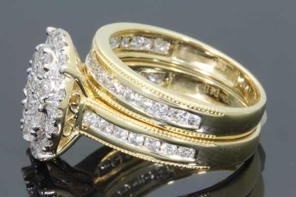 Set Nguyên Bộ Nhẫn Đứng Kim Cương Nữ Cưới Vàng 18 K Anillos Bague Etoile Bizuteria Nhẫn dành cho Nữ Thạch Anh Màu trắng topaz trang sức