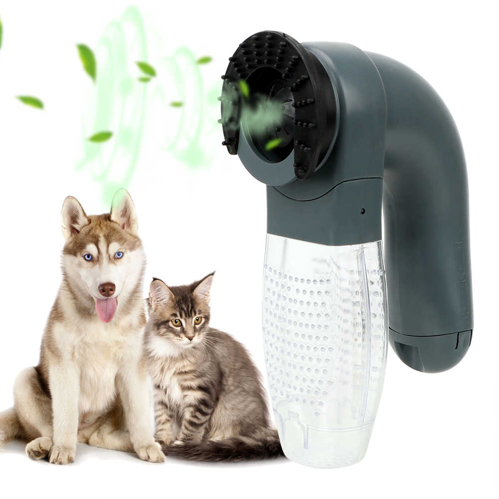 Cat Dog Animals Hair Comb Pet Grooming Portable Cat Dog Deshedding Clipper Electric Suction Device Vacuum Fur Cleaner