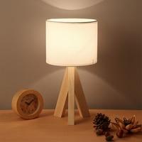 Modern Solid Wood Table Led Lamp Desk lamp led lamps bedroom fixture lamp