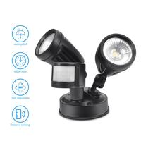 LAIDEYI Outdoor Double head COB human body induction flood light 30W AC 85V 265V Waterproof IP65 Professional Lighting Lamp