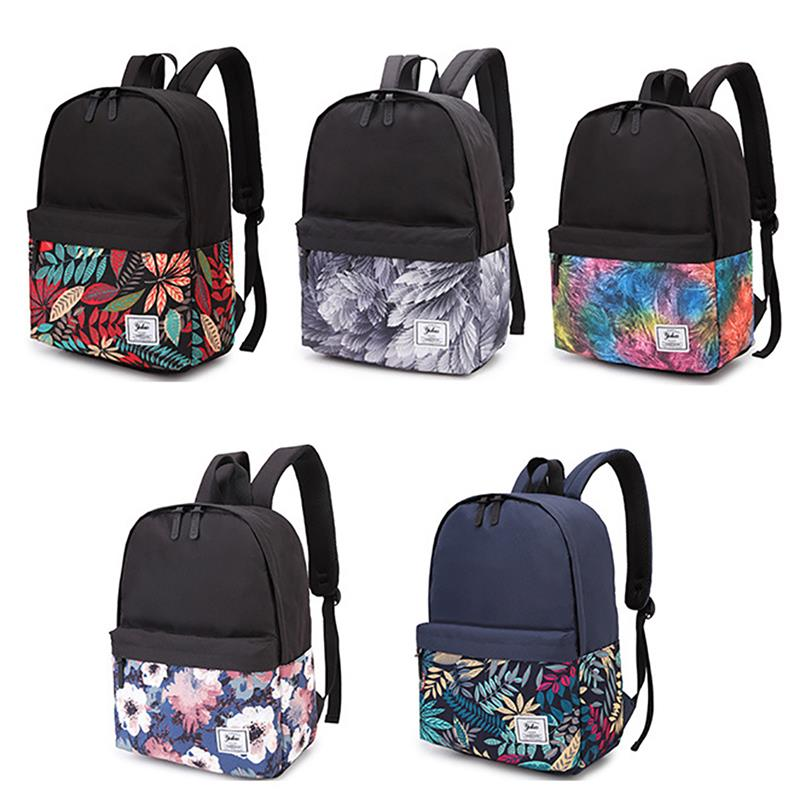 c9bbd89435a3b Mode Blumen Leafs Muster frauen Damen Rucksack Leichte Oxford Schule  Rucksack Schul Für Mädchen Teens Jugend