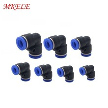Pv4/6/8/10/12/14/16mm Type Free Shipping Touch Plastic Pneumatic Hose Air Elbow Fitting Male Thread Gas Quick Joint
