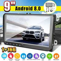 9 Inch 2 DIN Android 8.0 Car Multimedia Player HD FM MP4 MP5 Radio Stereo GPS Navigation WIFI Bluetooth Car Video Player For VW