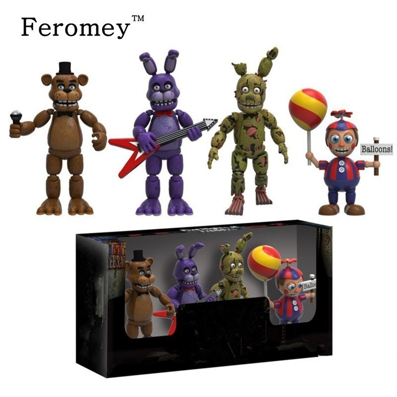 New Arrival Five Night At Freddy's FNAF Action Figures Doll Toys Foxy Freddy FNAF PVC Figure Toys For Children Kids 5cm