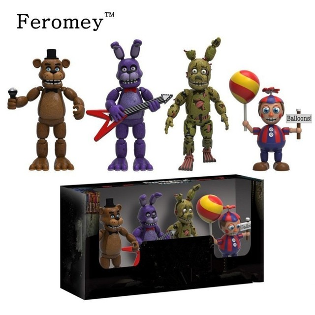 New Arrival Five Night At Freddy's FNAF Action Figures Toys Foxy Freddy FNAF PVC Figure Toys for Children Kids 5cm