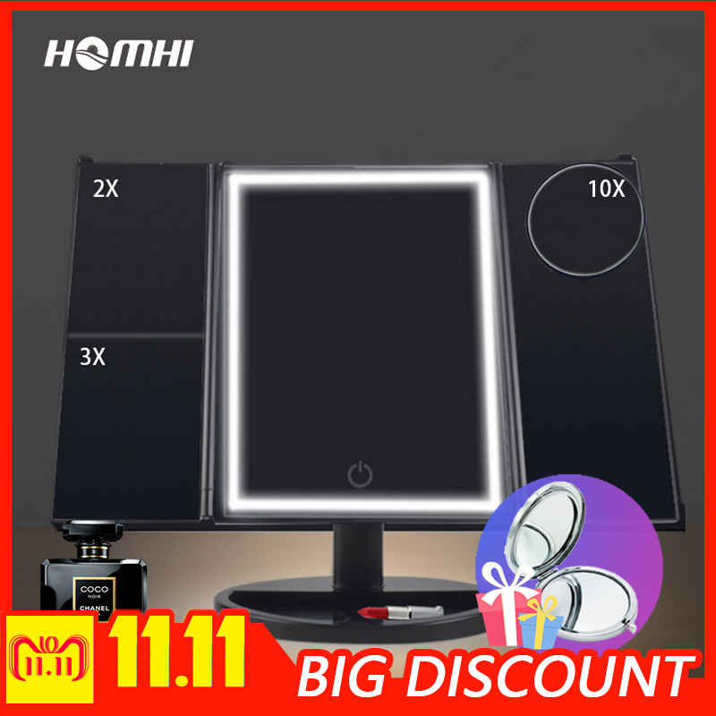 LED make up mirror hollywood mirror vanity table glass lights mirror with illumination dressing mirror female girl birthday gift