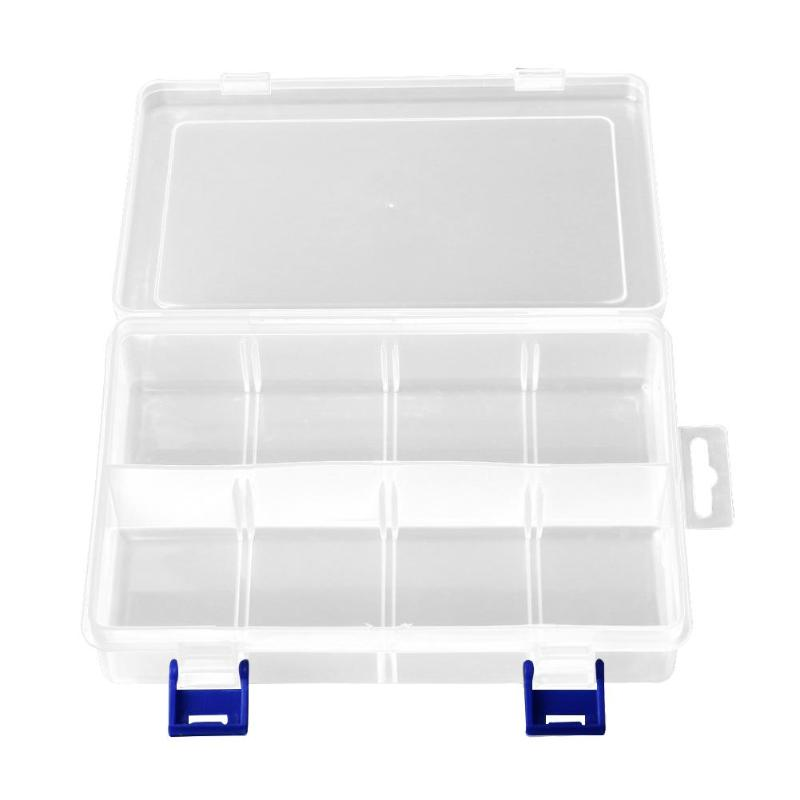 8 Slots Portabel Plastic Fishing Lure Hook Tackle Box Storage Case Organizer Fish Tool Box Accessory Square Fishhook Box