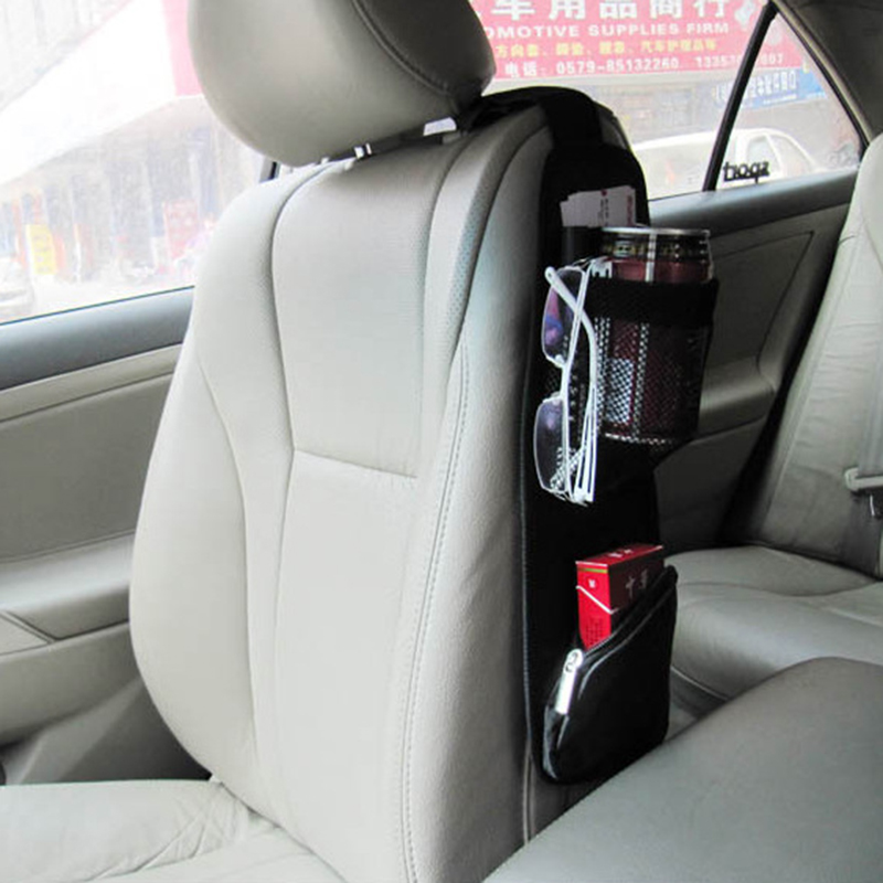 1 PCS Car Seat Storage Bag Car Seat Side Pocket Backseat Drink Holder Hanging Bags Debris Bag Auto Seat Side Hanging For Phone 1