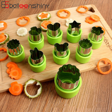 BalleenShiny 8pcs/set Flowers Vegetable Fruit  Metal Cutting Die Stainless Steel Bread Cookie Printing Kitchen Meal Decor
