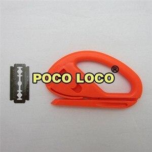 Image 2 - Película de revestimiento de vinilo segura, cúter de Color naranja portátil, versátil, cuchilla para manualidades para coser Cartón, herramienta de corte de colección de recortes, Zippy