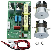 AC 220v 60w 100w Ultrasonic Cleaner Power board Driver Frequency Tester Board With 2pcs 50w 40khz Transducers