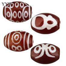 5 шт./лот, бусы из натурального тибетского дзи, ювелирные изделия на удачу, натуральный камень для изготовления ювелирных изделий, 14x10x10 мм, Отверстие: Приблизительно 1,5 мм