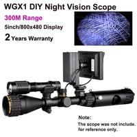 WGX1 300 м Диапазон DIY ночное видение область с 5 Вт лазерный фонарик Охота прицел ночного видения NV Телескопический Монокуляр по продажам