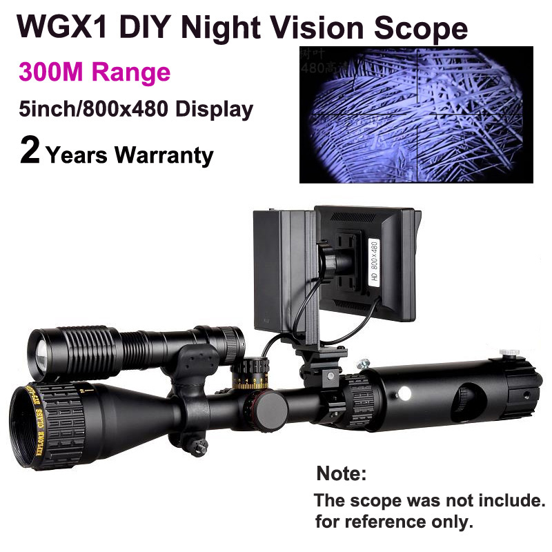 WGX1 300M Range DIY Night Vision Scope With 5w Laser Flashlight Hunting Night Vision Riflescope NV Scope Monocular On Sales