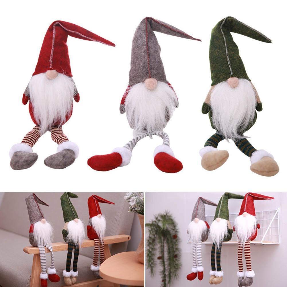 Christmas Decorations All Year Long: 2018 Christmas Decoration Faceless Doll Cute Sitting Long