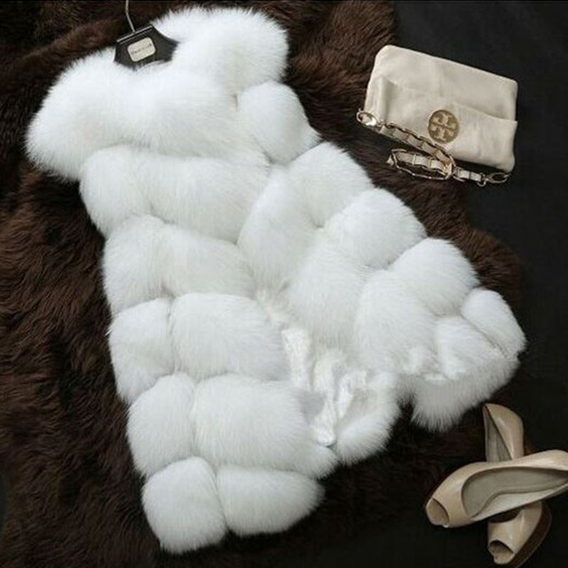 Faux Fur Sleeveless Vest Winter Thick Coats Women 2020 New Fashion Casual Jacket Warm Slim Fake Fox Outerwear Women Winter Vest