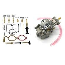 28mm Flat Slide Carburetor + Repair Kit for PWK Scooter KTM ATV 2 Stroke Cycle 80cc 100cc 125cc 250cc 350cc