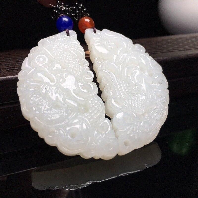 2019 pressé Buda Druzy naturel pendentif Reiki produits et matériaux de haute qualité de Hetian Longfeng wek-jin rond marque collier