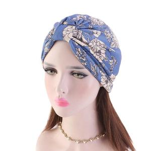Image 3 - נשים פרחוני הדפסת כובע מוסלמי חיג אב הכימותרפיה סרטן כובע אסלאמי שיער אובדן כובע ראש צעיף טורבן סאטן אניה פנימי כובע ערבי אופנה