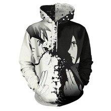 New Anime Naruto Sasuke 3d Printing Digital Hooded Sweater Costume Japanese Cosplay Costumes Unisex