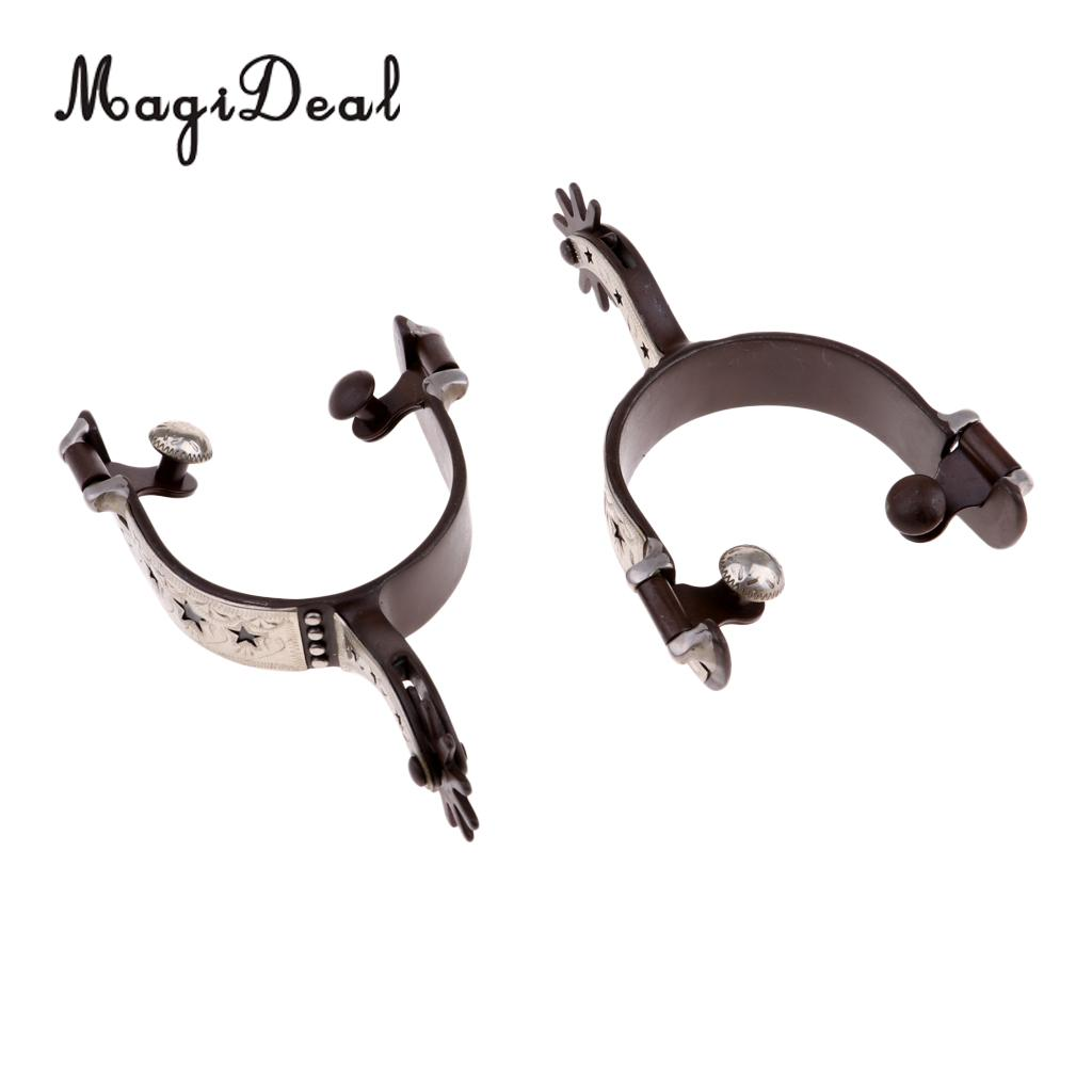 MagiDeal Men and Women Horse Spurs Equestrian Horse Riding Spurs Accessories 2 pcs