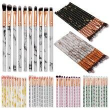 10 Pcs Makeup Brush Multicolor Marble Beauty Tool Brushes Kits Blush Bulk Powder Eye Shadow Highlight