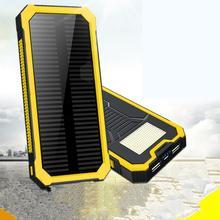 hot deal buy portable solar power bank 8000mah waterproof external battery backup powerbank 8000 mah phone battery charger led pover bank
