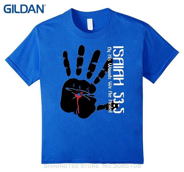 201eeed5c De moda de verano de Paried camisetas religiosa cristiana fe T camisa  Isaías 53: 5