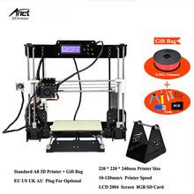Anet A8 & Auto Level Desktop 3D Printer 0.4 mm Nozzle Prusa I3 DIY 3D Printer Kit with 220*220*240MM Home/Office Used 3D Printer