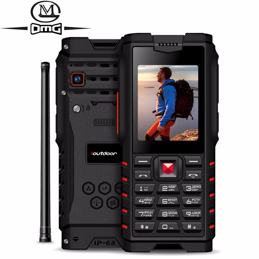 "ioutdoor T2 ip68 Waterproof shockproof Russian keyboard Mobile Phone 4500mAh 2.4"" Walkie-talkie intercom outdoor FM cell phons"