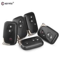 KEYYOU 2/3/4 Botão Keyless Entry Chave Inteligente Shell Caso Chave Remoto Para Lexus LX470 GS450h IS350 SC430 CT200h GS430 ES350 GS350