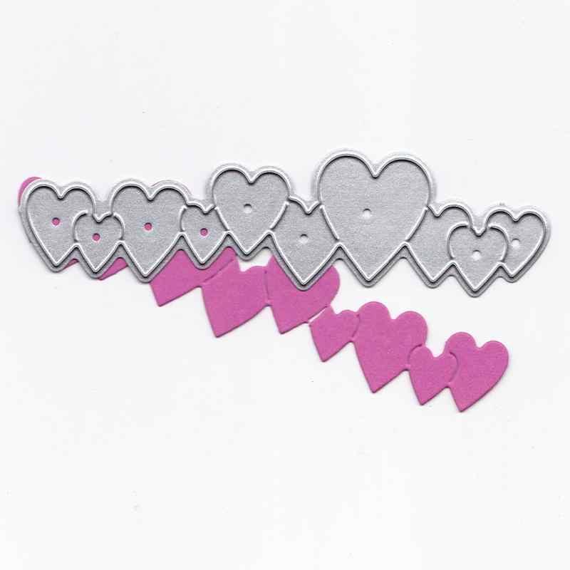 Long love heart string DIY knife mold embossed carbon steel knife mold cutting die