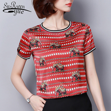 new 2020 summer women blouse shirt chiff